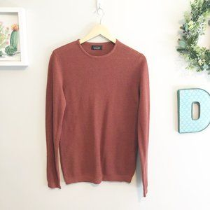Zara Man Copper Red Waffle Knit Pullover